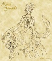 Zijal Guado - Concept sketch by nachtwulf