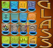 glass dock icons by rowlee