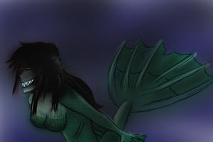 Mermaid in the Deep by ShyLeviathan