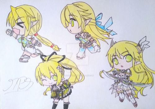 Elsword - Rena Chibi by thehandle18