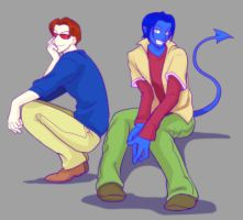 x-men evolution Scott and Kurt by ka-na-o