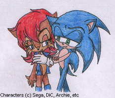 Sonic x Sally by SamCyberCat