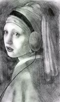 girl with the pearl headphones by twisted-children