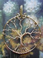 Golden Branches *SOLD* by RachaelsWireGarden