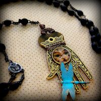 Steampunk Hamsa by resinated-etsy