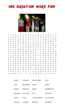 One Direction Word Find by iluvlouis