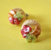 Mini Fruit Tarts Studs by PetitPlat