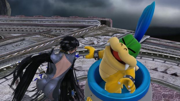 Bayonetta Loves Hand Larry Koopa by RainbowAllStars