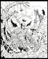 FREE HELL LINEART by SoulSoDeep