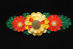 Chrysanthemum Barrette by thedrunkenprincess