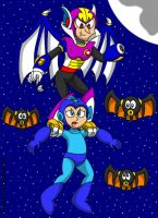 Mega Man and Shade Man by CaseyDecker