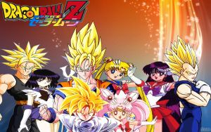 Dragon Ball Z X Sailor Moon by dbzandsm