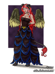 [Commission] Crimson Mistress Full Body by ridia
