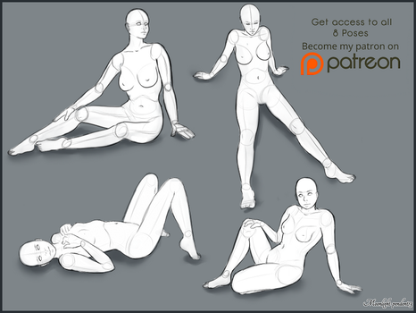 Pose Studies, Pack 3 by Moonlight-pendent13
