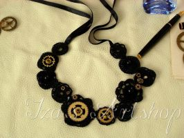 Steampunk choker by izasartshop