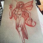 Evil fairy in progress by Greendogbex