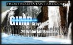 Waterfall GIMP Brush SET 1 by FrostBo