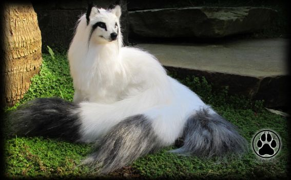 SOLD Three-tailed fox commission poseable artdoll. by CreaturesofNat