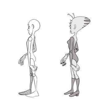 ART- imation frame 33 original sketch and final by BUdraw-81