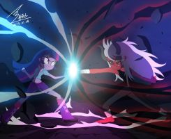 MLP Twilight Sparkle Vs Tirek by 0Bluse