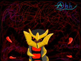 Giratina in his Dimention by TheDarkAbb