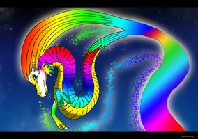 Rainbow Dragon by MiakaHongo