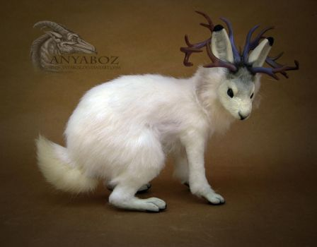 Effra the Arctic Jackalope Room Guardian by AnyaBoz