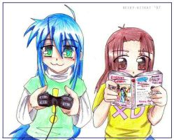 Lucky Star and Life by becky-kitkat