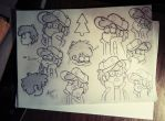 Dipper (Sketch) by AlinaCat923
