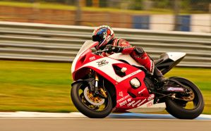 Ian on the GSXR 750 by waggysue