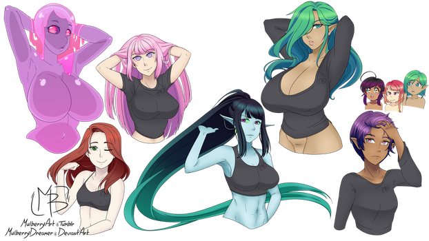 Hair Flips by MulberryDreamer