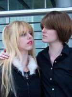 Misa Amane and Light Yagami by damselle-xo