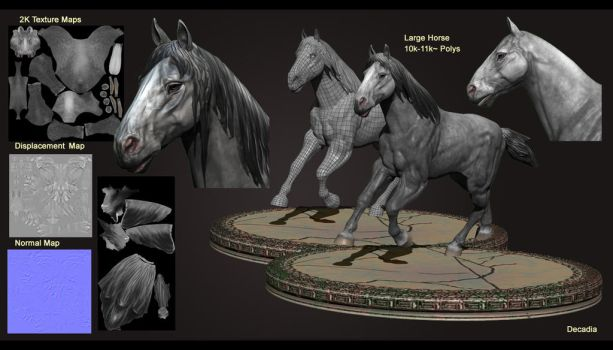Large Horse 3D by Decadia