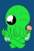 Chibi Cthulhu by Obscura326