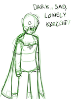 Dark Sad Lonely Knight [Lineart] by ForeverMuffin