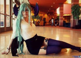 Morrigan Aensland Teacher by Micheleio