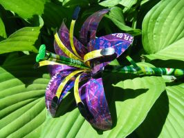Recycled Large Purple Lily by Christine-Eige