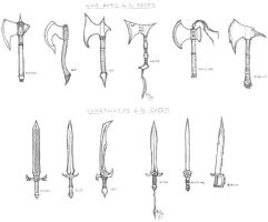 Weapons by the Races by juusu-chan
