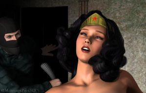 Wonder Woman Conked Out Cold Close-Up Shot by gytalf2000