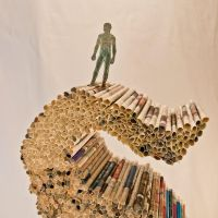 'Structure' - Manipulated Book Sculpture [Detail] by jonesblachowicz