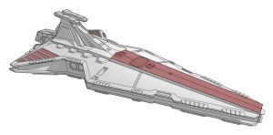 Star Wars Vehicle - Venator Star Destroyer by Obhan