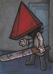 Pyramid Head - Hello there by Yamallow
