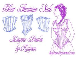 Your Feminine Side: Lingerie by kalijean