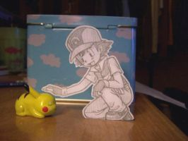 Paper Child: Ash and Pikachu by Momogirl