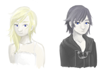 Xion and Namine by mLahulia