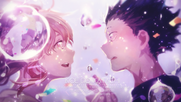 Koe no katachi wallpaper (coloring) by Muztnafi