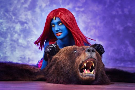 Mystique and her russian bear. by MarinaReIkO