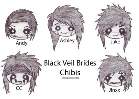 BVB Chibi Faces by shinigamixandie