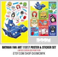 2nd batman poster and stickers by DoomCMYK