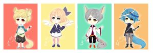 Adoptable Batch 7 [AUCTION][OPEN][AB ADDED] by Dehybi-Adopts